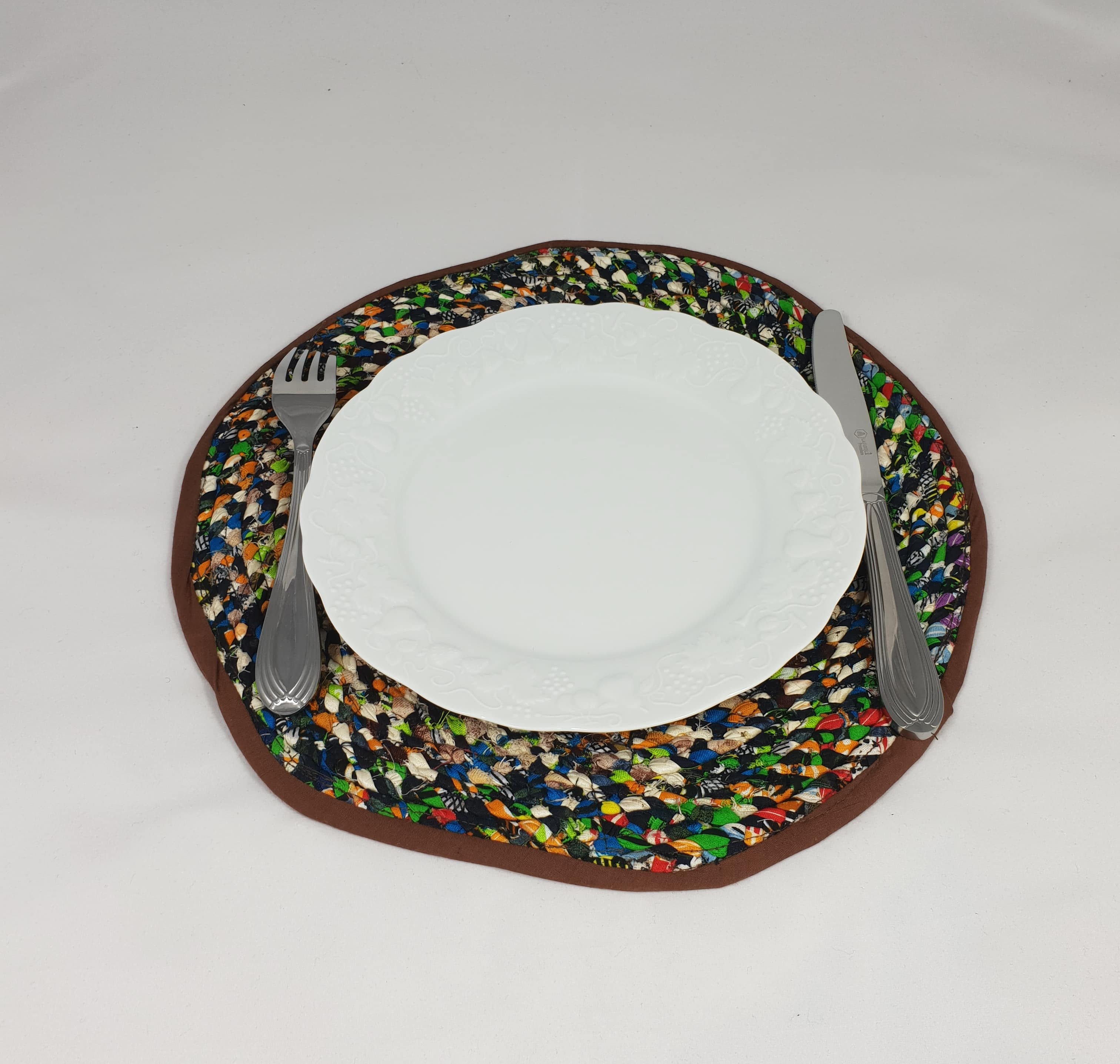 sets de table en tissus recycl s lot de 2 african art. Black Bedroom Furniture Sets. Home Design Ideas